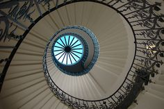 Composition: blue in the spiral by 10b travelling, via Flickr