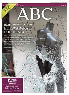 La portada de ABC del viernes 27 de mayo