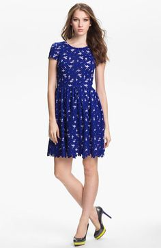 Vince Camuto Short Sleeve Lace Dress available at #Nordstrom