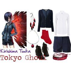 """Tokyo Ghoul - Kirishima Touka"" by valeriaest on Polyvore"