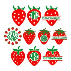 Strawberry Cuttable Design Cut File. Vector, Clipart, Digital Scrapbooking Download, Available in JPEG, PDF, EPS, DXF and SVG. Works with Cricut, Design Space, Cuts A Lot, Make the Cut!, Inkscape, CorelDraw, Adobe Illustrator, Silhouette Cameo, Brother ScanNCut and other software.