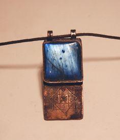 Labradorite Necklace Shaman Protective Talisman by shamanstones