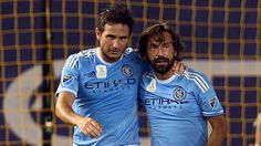 @Pirlo planning a strategy with his teammate Frank Lampard #9ine
