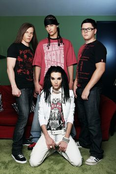 Tokio Hotel: Bill Kaulitz, Tom Kaulitz, Georg Listing, Gustav Schäfer. Love them so much. <3