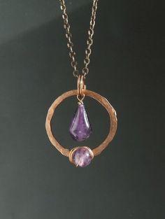 Amethyst necklace february birthstone jewelry by VeraNasfaJewelry