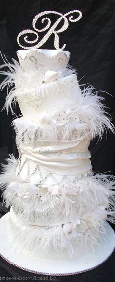 Wedding cake / whimsy, glamour  bling...  ♥