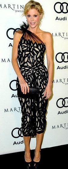 Julie Bowen in a Naeem Khan dress with Sergio Rossi platform heels @ a Golden Globes Kick Off Party in 2012