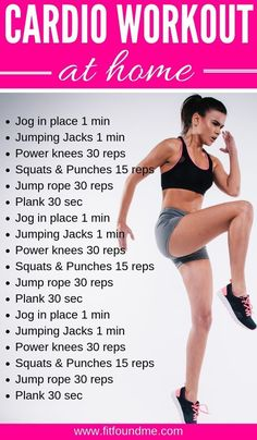 A Successful Cardio Workout Plan at Home + Beginner Cardio Workout Plan