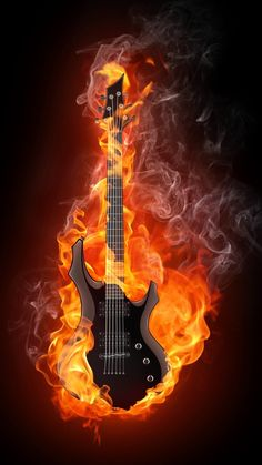 Find Electric Guitar Fire Flames Isolated On stock images in HD and millions of other royalty-free stock photos, illustrations and vectors in the Shutterstock collection. Thousands of new, high-quality pictures added every day. Guitar Art, Music Guitar, Acoustic Guitar, Qhd Wallpaper, Guitar Images, Heavy Metal Art, Cool Fire, Epic Tattoo, Skull Artwork