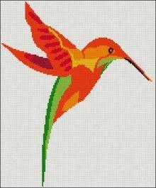 Hummingbird free cross stitch pattern   Yiotas XStitch