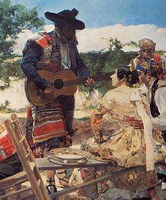 Sorolla y Bastida, Joaquin (1863-1923) - Escena Valenciana, detail, 1893