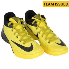 Oregon Ducks Fanatics Authentic Team-Issued Black and Yellow Nike Hyperdunk Basketball Shoes from the 2015-2016 Season - $199.99