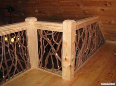 Stair Railing and Balcony Handrail | Artistic Branch Wood Railing