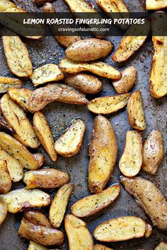 Lemon Roasted Fingerling Potatoes are one of my family's favourite side dishes. They are incredibly easy to make and are always a hit when we serve them at family functions and holidays. I'm a sucker Vegetable Dishes, Vegetable Recipes, Beef Recipes, Whole Food Recipes, Cooking Recipes, Potato Recipes, Citrus Recipes, Spring Recipes, Yummy Recipes