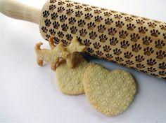 PFOTE Muster prägen Nudelholz. Dogie PFOTE Muster. Gravierte