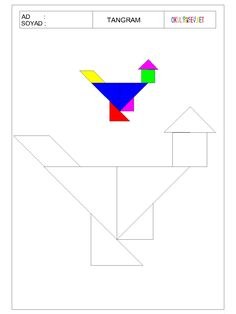 ÇOCUKLAR İÇİN TANGRAM-OKUL ÖNCESİ HERŞEY Preschool Math, Kindergarten, Tracing Shapes, Tangram Puzzles, Math For Kids, Activities, Pattern, Crafts, Geometric Form