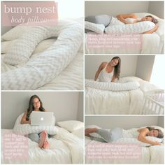 An in-depth review on how to make the most out of your Bump Nest Pregnancy Pillow by Laura at A Little Bit of Lacquer.