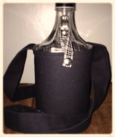Custom Craft Beer Insulated Growler Carrier bag by alkohaulers