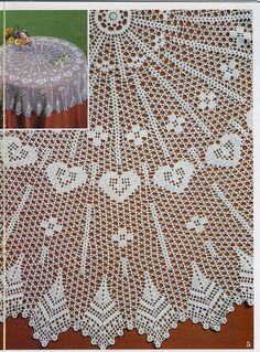 Best 12 Photo from album – SkillOfKing. Crochet Table Topper, Crochet Tablecloth Pattern, Crochet Doily Patterns, Thread Crochet, Filet Crochet, Crochet Doilies, Crochet Home, Hand Crochet, Knit Crochet
