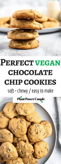 These are the BEST vegan chocolate chip cookies. The recipe is easy to make with simple ingredients, using applesauce instead of eggs for a healthy swap. These chewy vegan cookies taste just like the ones you grew up making! #vegan #vegancookies #vegandessert #vegandessertrecipe #chocolatechipcookies #eggfree #dairyfree #chocolate #veganchocolate #vegan #veganbaking #holidaybaking Best Vegan Chocolate, Vegan Chocolate Chip Cookies, Vegetarian Desserts, Vegan Snacks, Best Vegan Recipes, Vegan Dessert Recipes, Air Fried Food, Easy Vegan Dinner, Vegan Banana Bread