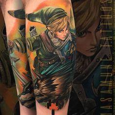 Official VideoGameTattoo Page ( Awesome Tattoos, Cool Tattoos, Back Tattoo, I Tattoo, Legend Of Zelda Tattoos, Cute Tats, Anime Tattoos, Twilight Princess, Badass