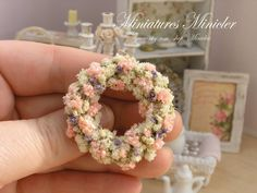 Miniature Dollhouse Wreath Shabby Chic by Minicler on Etsy, €12.00