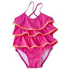 Circo® Infant Toddler Girls' Ruffle 1-Piece Swimsuit