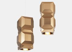 One Light Only (OLO) is a collection of striking pendant lights that draw on Lee Broom's fashion background. Characterised by its gem-like faceted exterior, OLO references both Art Deco jewellery and late fashion photography. Pendant Chandelier, Ceiling Pendant, Pendant Lighting, Ceiling Lights, Fashion Background, Gold Interior, Art Deco Jewelry, One Light, Home Lighting