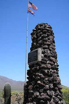 Picacho Peak Battlefield Monument. Westernmost battle of The American Civil War & the only battle fought in Arizona Territory.