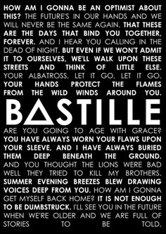 letra the weight of living bastille