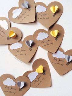 Heart Hot Air Balloon Gift Tags Set of 12