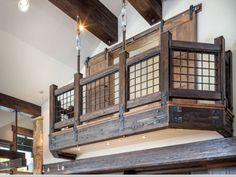 Pinnacle Mountain Homes - General Contractor Breckenridge, CO… Rebar Railing, Loft Railing, Banisters, Stair Railing, Railing Ideas, Hand Railing, Porch Railings, Iron Railings, Loft Stairs