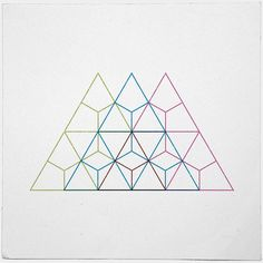 Creative Geometry, Minimal, Lines, Print, and Design image ideas & inspiration on Designspiration Geometry Art, Sacred Geometry, Geometric Designs, Geometric Shapes, Geometric Tattoos, Geometric Symbols, Triangle Tattoos, Geometric Logo, Geometric Patterns