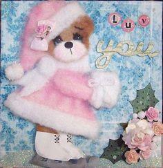 tear bear - Snow adorable card