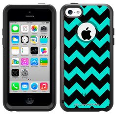 Otterbox Commuter Chevron Turquoise and Black Case for iPhone 5C:Amazon:Cell Phones & Accessories