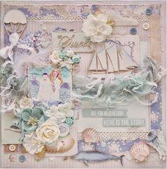 Julia Ost handmade: Мои три странички и набор в дк Vintage Cafe Card Challenge!
