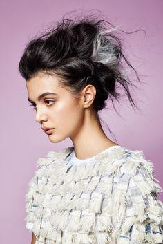 NEW.GIRL.WAVE Photography: Chris Chudleigh Creative Direction/Styling: Martin Wall Hair: Billie Watkins Make-Up: Eleni Tondi Model: Tara Albini Top: The Autonomous Collections