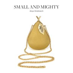 The Top Accessory Trends of Spring 2013. a cute pear clutch by Anya Hindmarch