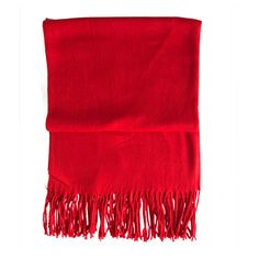 Women's Azuri Oversized Blanket ScarfSolid-Red ($17) ❤ liked on Polyvore featuring red and blanket scarf