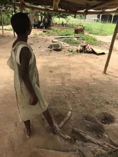 This girl was among 16 people with real or perceived mental health conditions released from shackles in Nyakumasi Prayer Camp, in Central Region, Ghana, on June 30, 2017