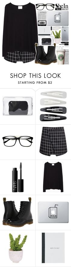"""""""Dreaming about the things that we could be"""" by alexandra-provenzano ❤ liked on Polyvore featuring 3.1 Phillip Lim, Forever 21, NARS Cosmetics, La Garçonne Moderne, Dr. Martens and Lux-Art Silks"""