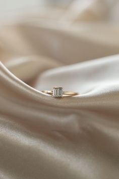 Roux   14k Yellow Gold   #baguette #dainty #anniversary Baguette Diamond Rings, Diamond Bands, Diamond Engagement Rings, Olive Avenue Jewelry, Wedding Bands For Her, Jewelry Companies, Vintage Rings, Natural Diamonds, Anniversary