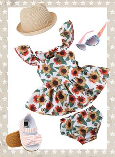 UP TO 60% OFF + FREE SHIPPING! SHOP Our Cute Sunflower Girls Look at thetrendytoddlers.com.