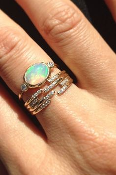 This Mystical Stone Is More Than Just A Pretty Bauble #refinery29  http://www.refinery29.com/opal-jewelry#slide8