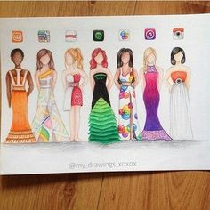 Social media dresses comment which one is your favorite By @my_drawings_xoxox…