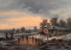 Manner of Andreas Schelfhout (1787-1870) Dutch. A