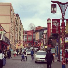 China town in Incheon. Chinese street food is welcoming people.