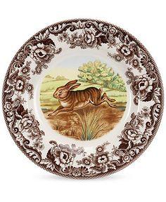 Spode Dinnerware, Woodland Rabbit Dinner Plate - Casual Dinnerware - Dining & Entertaining - Macy's