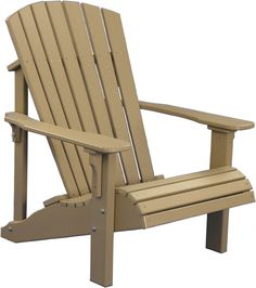 KEY FEATURES Deluxe Adirondack chairs are designed for superior comfort and durability, plus they're made of poly material, which is virtually maintenance-free. All you need to do is select your color