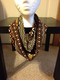 Tribal print infinity scarf/Aztec Infinity Scarf/Multi-Color infinity scarf  on Etsy, $14.00
